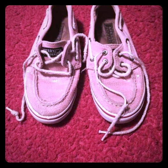 Pink Sperrys Size 12.5 Sperrys  Need to replace laces but no other damages  Kids pink Sperrys Shoes