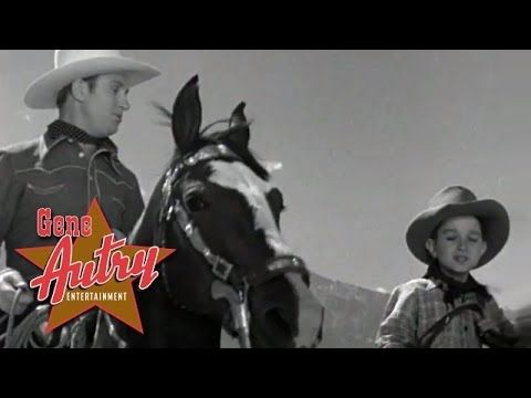 """Singing Cowboy Gene Autry and the Ranch Boys sing the Cowboy Classic """"Tumbling Tumbleweeds"""" from his movie """"In Old Monterey"""" from Republic Pictures 1939."""