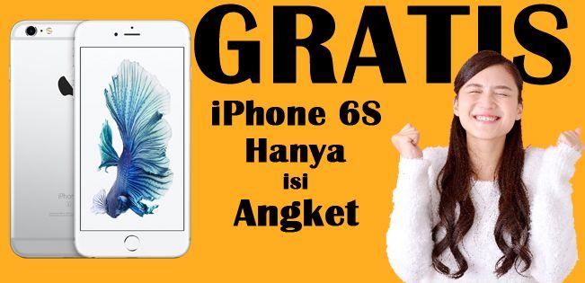 Hanya isi Kuesioner kemungkinan dapatkan iPhone6s !