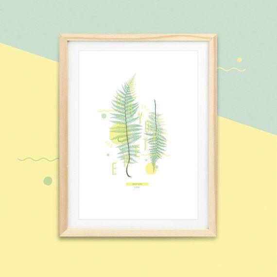 Botanic print - Affiche fougères DRYOPTERE #FERN -2-   |  Impressions botaniques & graphiques en édition limitée