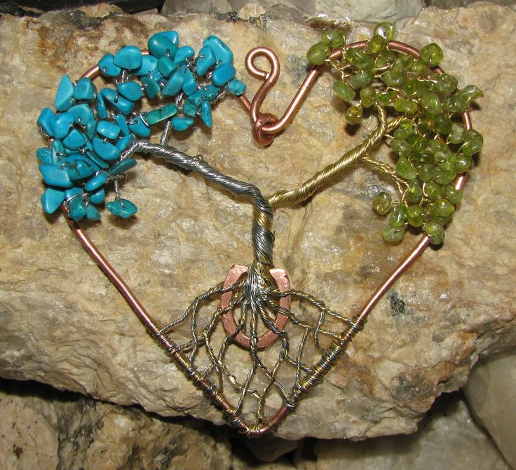 This is a wedding present for a pair of horse lovers.....copper, brass, galvanized steel, peridot, and turquoise.......$45 + shipping/Sold.