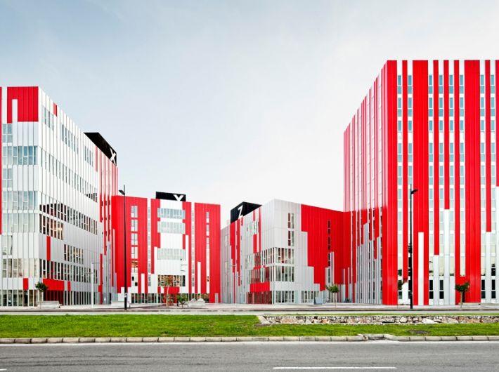 Gandia University Housing in Spain by Guallart Architects.