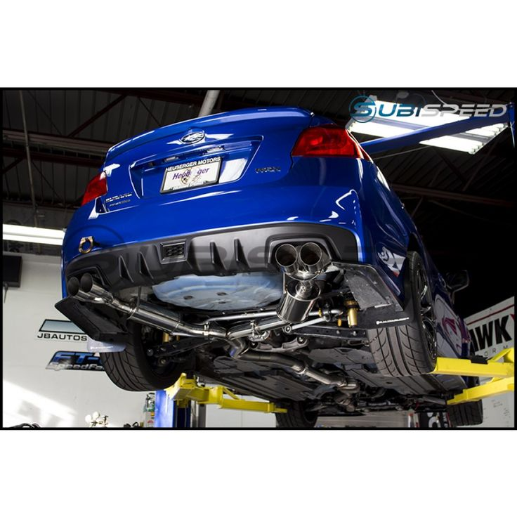 SubiSpeed Quad Tip Catback Exhaust System  - 2015 WRX / 2015 STI