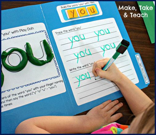 File Folder Activities for learning sight words. Word building, writing and reading activities!