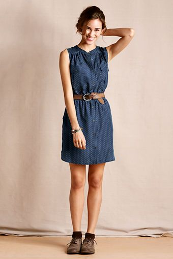 Women's Silk Reunion Dress from Lands' End Canvas