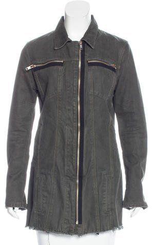 RtA Denim Zip-Up Short Coat