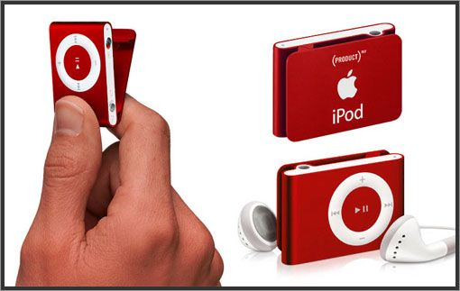 iPod Shuffle in Red. Red is the color of fire and blood, so it is associated with energy, war, danger, strength, power, determination as well as passion, desire, and love. #colour #red #colourmeaning #colourpsychology #sprout #ipodshuffle #technology #audio #music #device