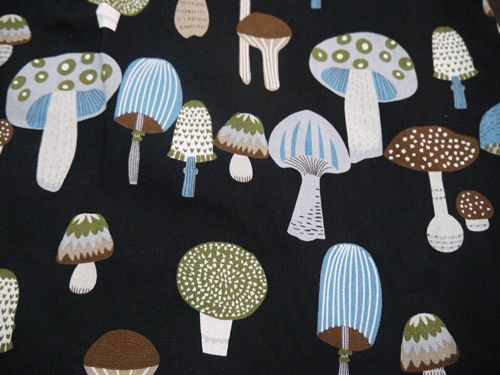 Fabric used in winter collection 2014. Mushrooms.