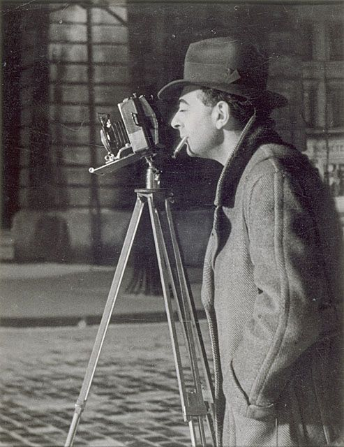 """Brassai and his camera """"Chance is always there. We all use it. The difference is a poor photographer meets chance one out of a hundred times and a good photographer meets chance all the time."""" - Brassai"""