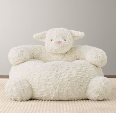 RH Baby U0026 Childu0027s Textured Plush Lamb Chair:The Softest Seat In The House  Is Also One Of The Friendliest.