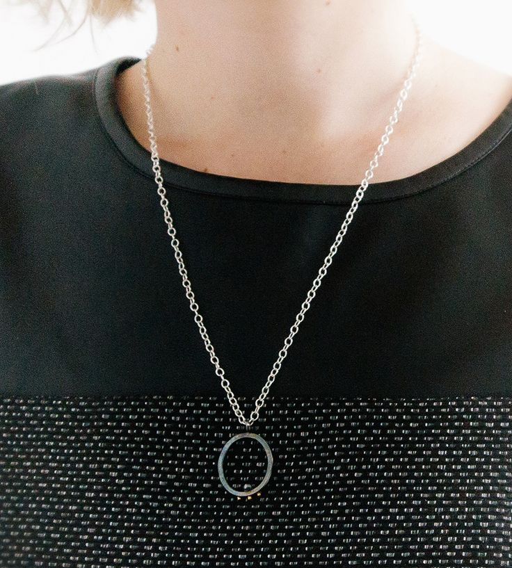 Halo Oval Pendant Necklace by Anastassia Sel on Scoutmob