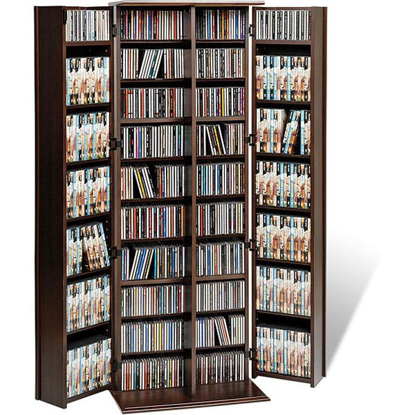 Prepac Everett Espresso Large Deluxe CD/ DVD Media Storage (830 BRL) ❤ liked on Polyvore featuring home, furniture, storage & shelves, entertainment units, brown, storage shelf, media shelves, dvd media storage cabinet, media cabinet and dvd storage shelf