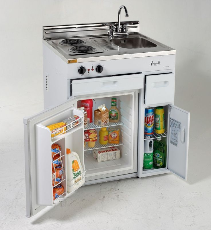 @Liz Mester Mester Krugman 30 Complete Compact Kitchen with 2.4 cu. ft. Refrigerator, 2 electric burners, sink and faucet. $521