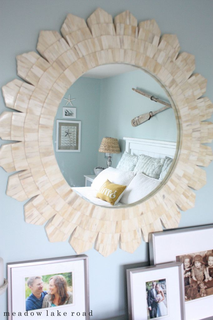 How to accessorize the top of your bedroom dresser. Less is more when creating a calming retreat.