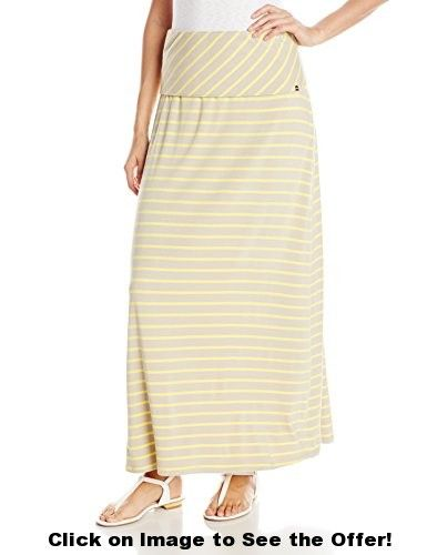 Calvin Klein Women's Stripe Maxi Skrt