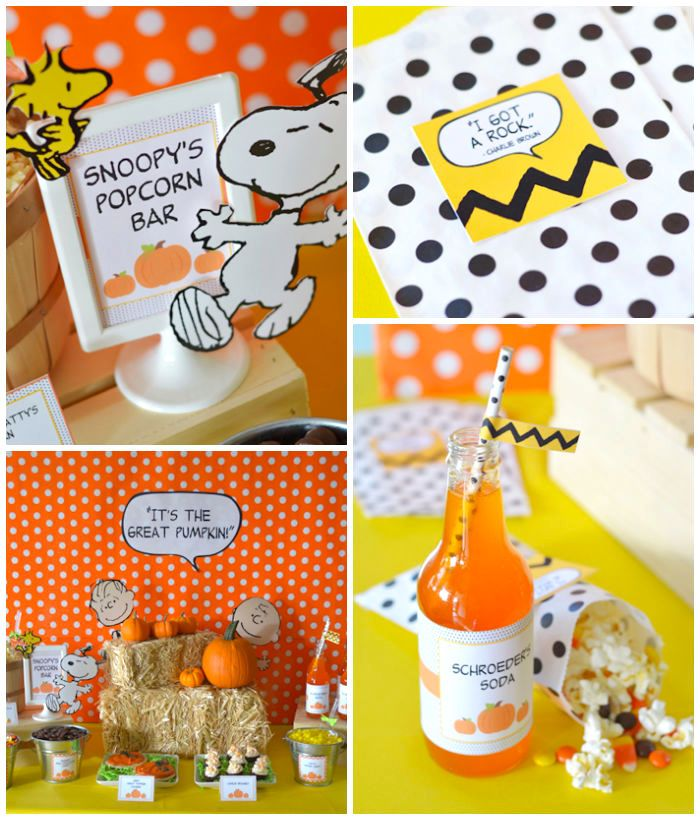 It's The Great Pumpkin Charlie Brown Halloween Party - karaspartyideas.com