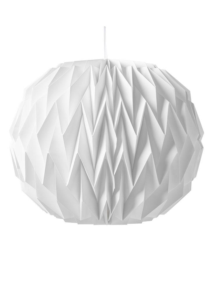 Boule origami blanche 28x37cm  et un choix immense de décorations pas chères pour anniversaires, fêtes et occasions spéciales. De la vaisselle jetable à la déco de table, vous trouverez tout pour la fête sur VegaooParty