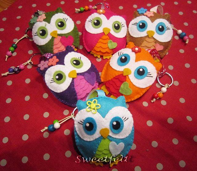 ♥♥♥ Corulindas ... by sweetfelt  ideias em feltro, via Flickr