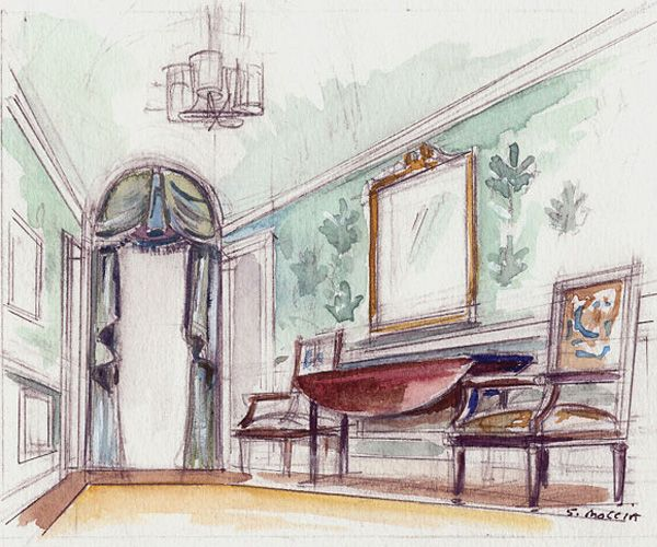 103 Best R E N D E R I N G Images On Pinterest Water Colors Albert Hadley And Interior Design