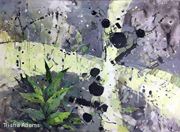 Begin Anew by Trisha Adams Mixed Media ~ 30 x 40