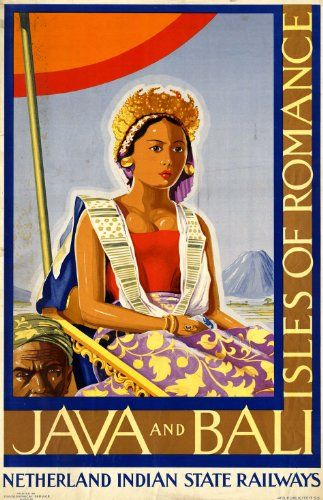 Fantastic A4 Glossy Print - 'Java And Bali' - Taken From A Rare Vintage Travel Poster (Vintage Travel / Transport Posters) by Unknown http://www.amazon.co.uk/dp/B005TKVPQE/ref=cm_sw_r_pi_dp_ZKVovb0R77AEN