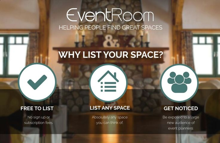 Why List your Space?  Just a few of the reasons why you should consider listing your event space with EventRoom.