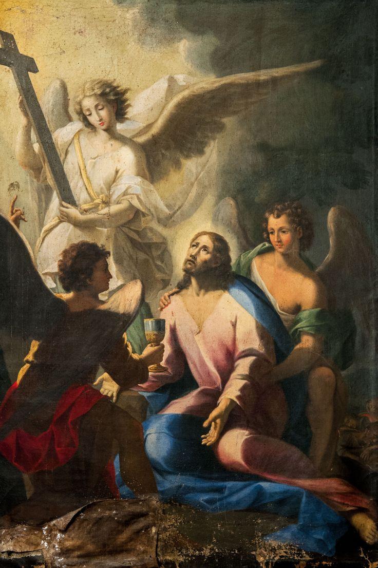 Pittore del XVII sec. Agonia del Gethsemani, Monteleone di Spoleto, chiesa di San Francesco