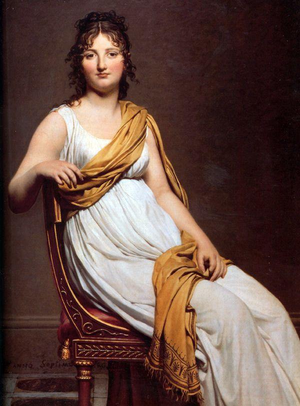 В 1820-е годы модной становится прическа без челки, с высоким пучком из кос на макушке, с пучками из локонов над ушами и с прямым или же зигзагообразным пробором. Таким образом, мода на прически в духе Античности сходит на нет, как и сам стиль ампир.