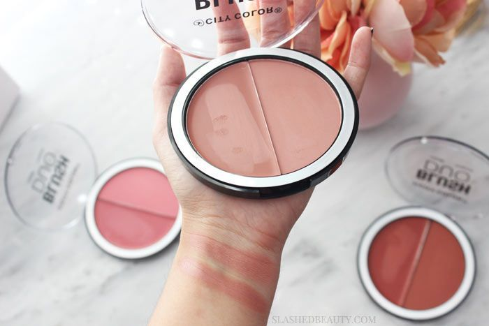 You need to get your hands on the new City Color Cosmetics Blush Cream & Powder Duos for your fall looks. Long lasting & pigmented-- see swatches of all 3!   Slashed Beauty