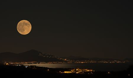 August Supermoon Photo by Panagiotis Zoulakis -- National Geographic Your Shot
