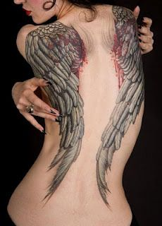 eXclusive Tattoos,: Angel Wings Tattoos on Back for Girls