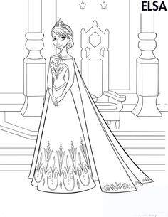 Dibujos para Colorear. Dibujos para Pintar. Dibujos para imprimir y colorear online. Frozen 42