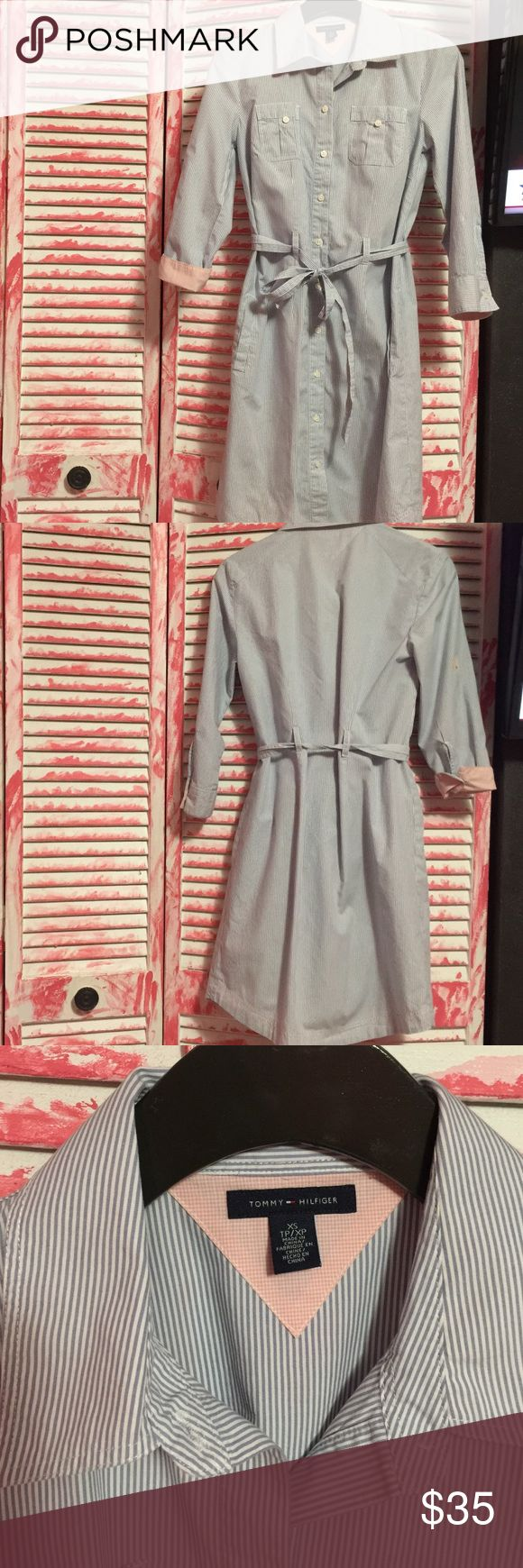 Tommy Hilfiger dress Used only once. Looks brand new Tommy Hilfiger dress. Very cute little below the knee. Tommy Hilfiger Dresses Maxi