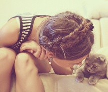 Inspiring picture braid, braids, cat, cute, fashion, feel. Resolution: 500x344 px. Find the picture to your taste!: Cat