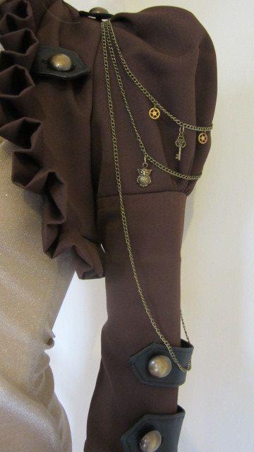 Brown Steam Bolero Jacket Steampunk Victorian by blackmirrordesign on etsy