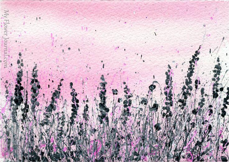 Splatter Paint Art-Summer of Color Challenge-myflowerjournal.com