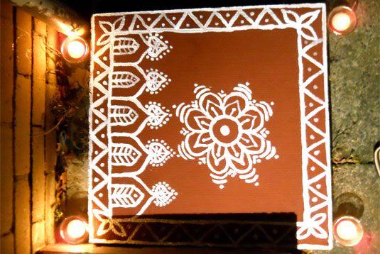 Rangoli, is present in different forms all over India; but is known by different names in different parts of the country. Rangoli art is known by the following names:       • Alpana (West Bengal)      • Aripan (Bihar)     • Aipan (Uttarakhand)     • Jhoti or Chita (Orissa)      • Kolam (Tamil Nadu)      • Muggu (Andhra Pradesh,      • Madana (Rajasthan)     • Rangoli (Gujarat, Karnataka and Maharashtra)     • Chowkpurana (Uttar Pradesh)