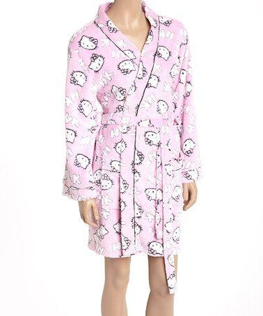 Look what I found on #zulily! Pink Hello Kitty Robe - Women #zulilyfinds