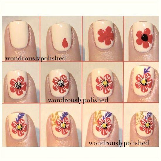 Flower Nail Art Tutorial: Best 25+ Hawaiian Flower Nails Ideas On Pinterest