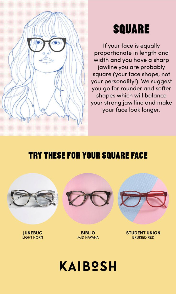 KAIBOSH | Glasses for Square Face Shapes | Find the glasses that fit your shape on www.kaibosh.com.