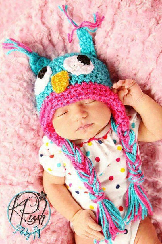 Crochet Owl Hat - newborn owl hat - owl baby shower gift - owl baby costume - owl fall hat - owl winter hat - child owl hat - owl photo prop https://www.etsy.com/listing/452711270/crochet-owl-hat-newborn-owl-hat-owl-baby