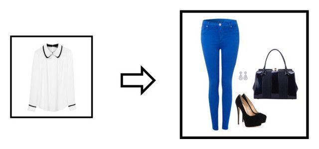 """Sem título #1174"" by mprocedi on Polyvore featuring moda, Hudson Jeans, Tara Jarmon, Giuseppe Zanotti e MKF Collection"