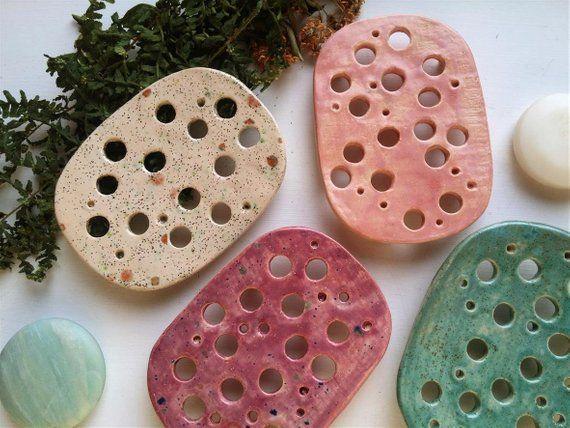 Keramik Seifenschale Küche Dekor Blaue Seifenschale