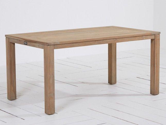 ROUGH-S dining tuintafel 160x90x75cm Old Teak van ROUGH Furniture