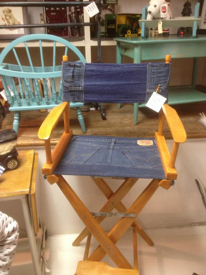 Denim Directors Chair