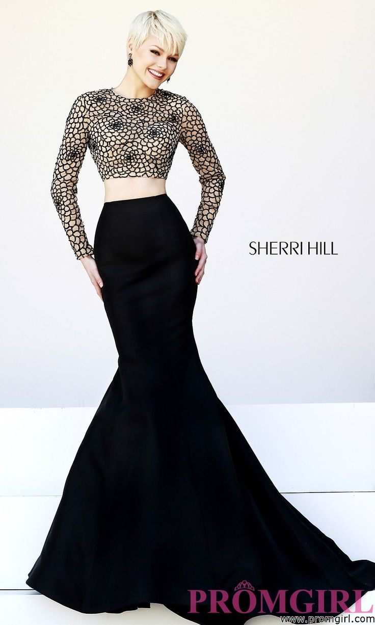 Prom Dresses, Celebrity Dresses, Sexy Evening Gowns - PromGirl: Two Piece Sherri Hill Prom Dress: