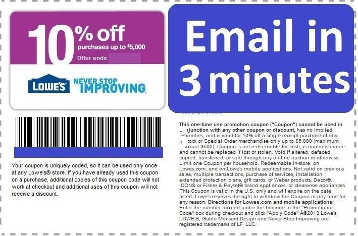 Coupons: Three (3X) Lowes 10% Off Printable-Coupons Exp 5/15/17 Fast Delivery -> BUY IT NOW ONLY: $2.45 on eBay!