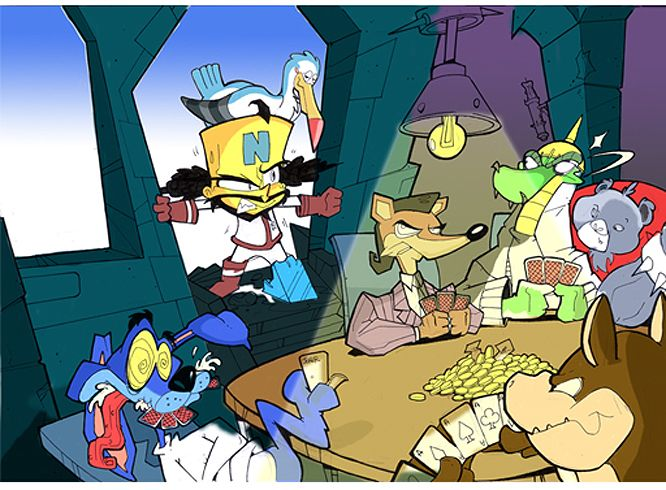 concept art from Crash Twinsanity. art by Keith Webb.