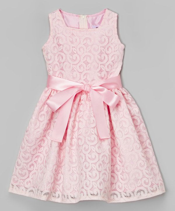 Pink Lace Bow Dress - Infant, Toddler & Girls *Perfect for Easter