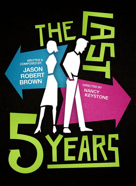 """""""The Last Five Years"""" runs April 26-June 22 in the Ellyn Bye Studio. Art by Michael Buchino."""